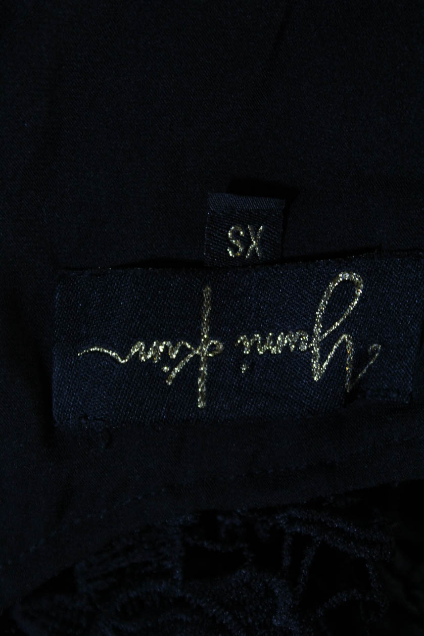 Jumpsuits & Rompers Yumi Kim Womens Spaghetti Strap Romper Black Crochet Knit Size Extra Small