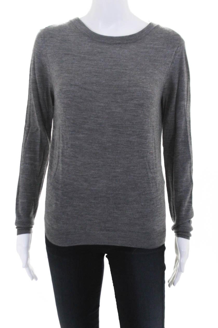 3 Lim Crew Size Gray Sweater Xs Back Neck Open Womens 1 Phillip Wool EI0wxPEr