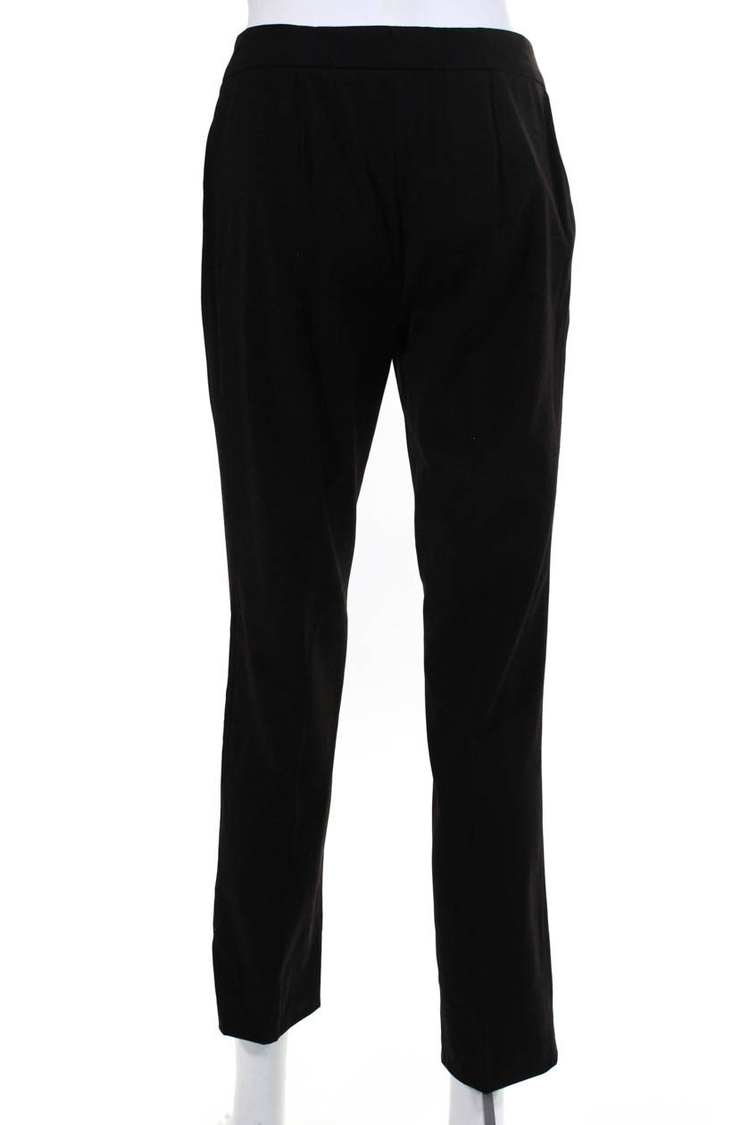 9b8e205c65 Details about Genny Womens Skinny Leg Dress Trousers Dark Brown Wool High  Rise Size EUR 40