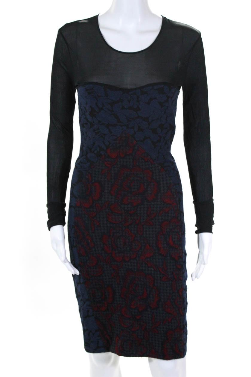 bed42aa6b397 Stella McCartney Womens Body Con Dress Multi Colored Floral Print ...