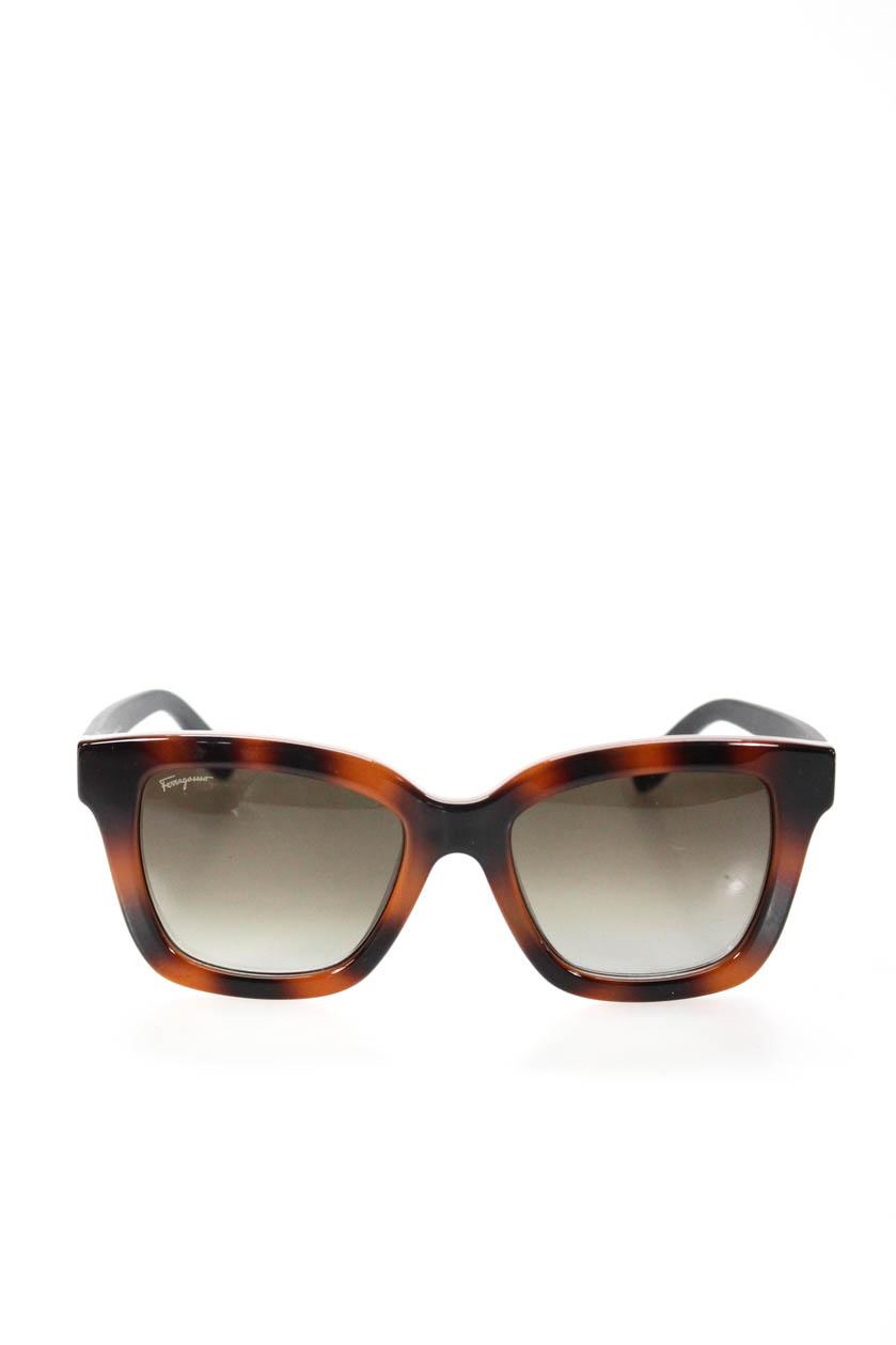 9f740c2d48c Details about Salvatore Ferragamo Womens Square Sunglasses Brown Floral  Tortoise Shell SF8585