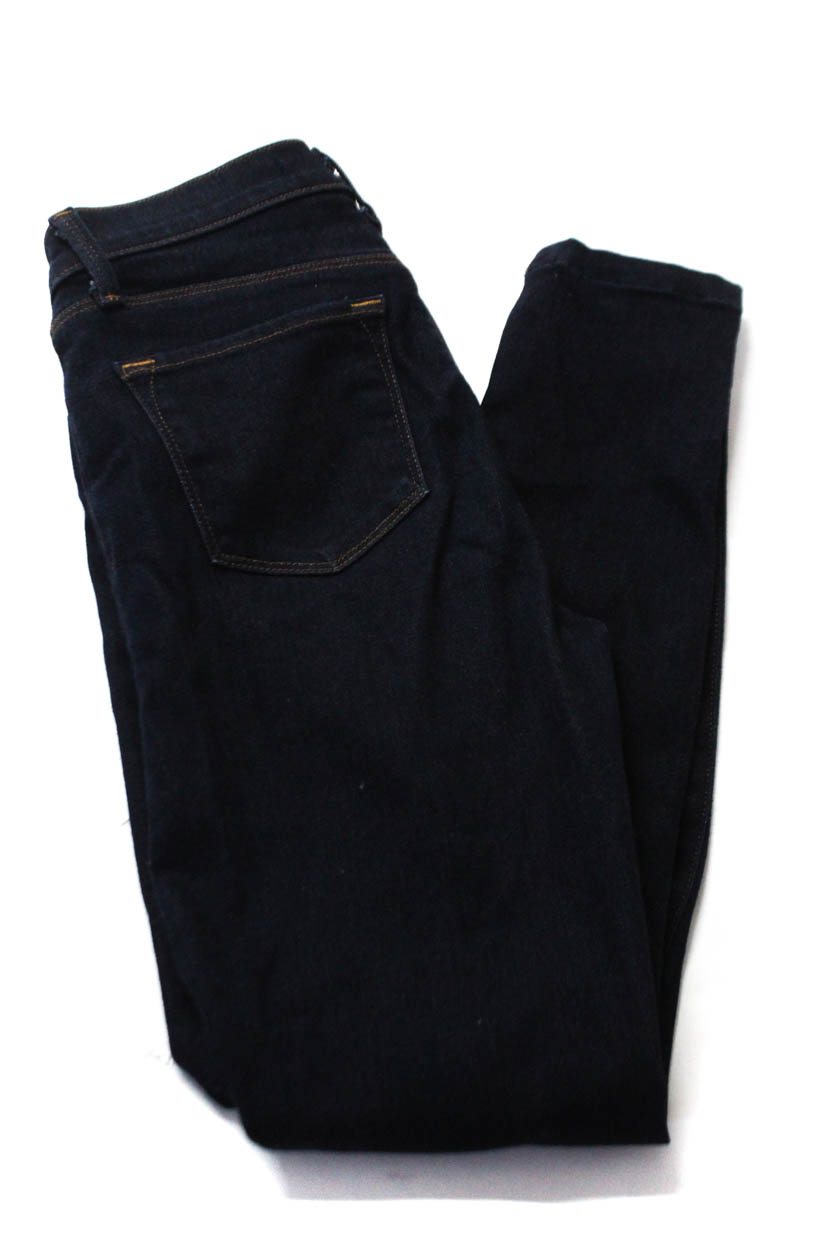 083e1bf6d45c9 Details about J Brand Womens Denim Stretch Mid Rise Skinny Jeans Dark Blue  Size 27