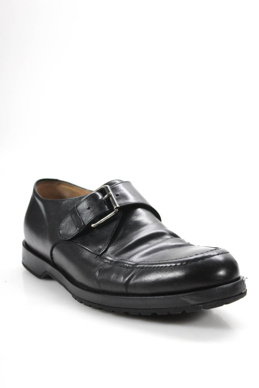 94701c2061 Details about Dries Van Noten Women Monk Strap Loafer Flat Black Leather  Silver Tone 41.5 11.5