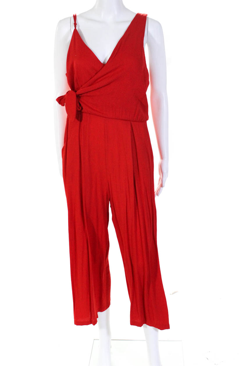 495773bbcf0 Details about greylin anthropologie womens chelsea culotte jumpsuit red  size large jpg 839x1259 Anthropologie red jumpsuit