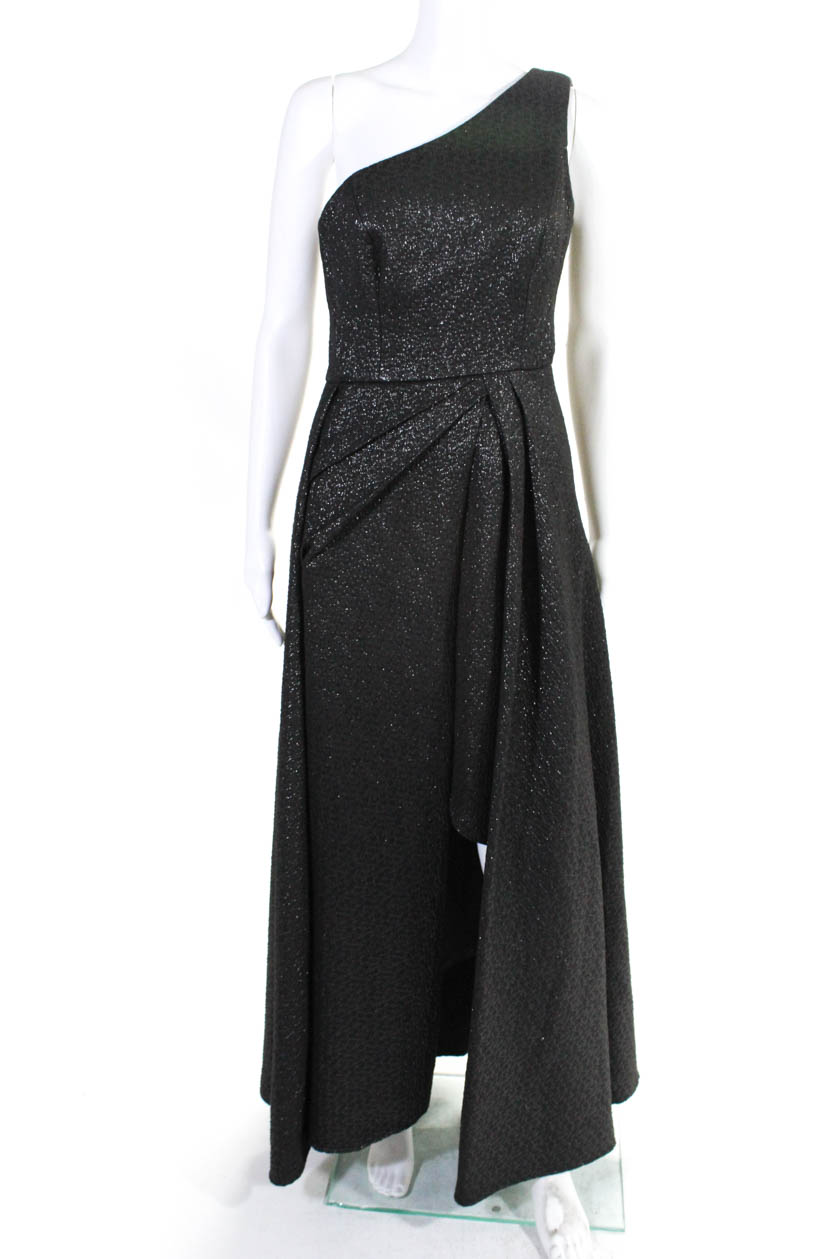 Dames Odyssey One Monique Ml 10674280 Lhuillier 4 Maat Zwart Shoulder Gown doeBrCx