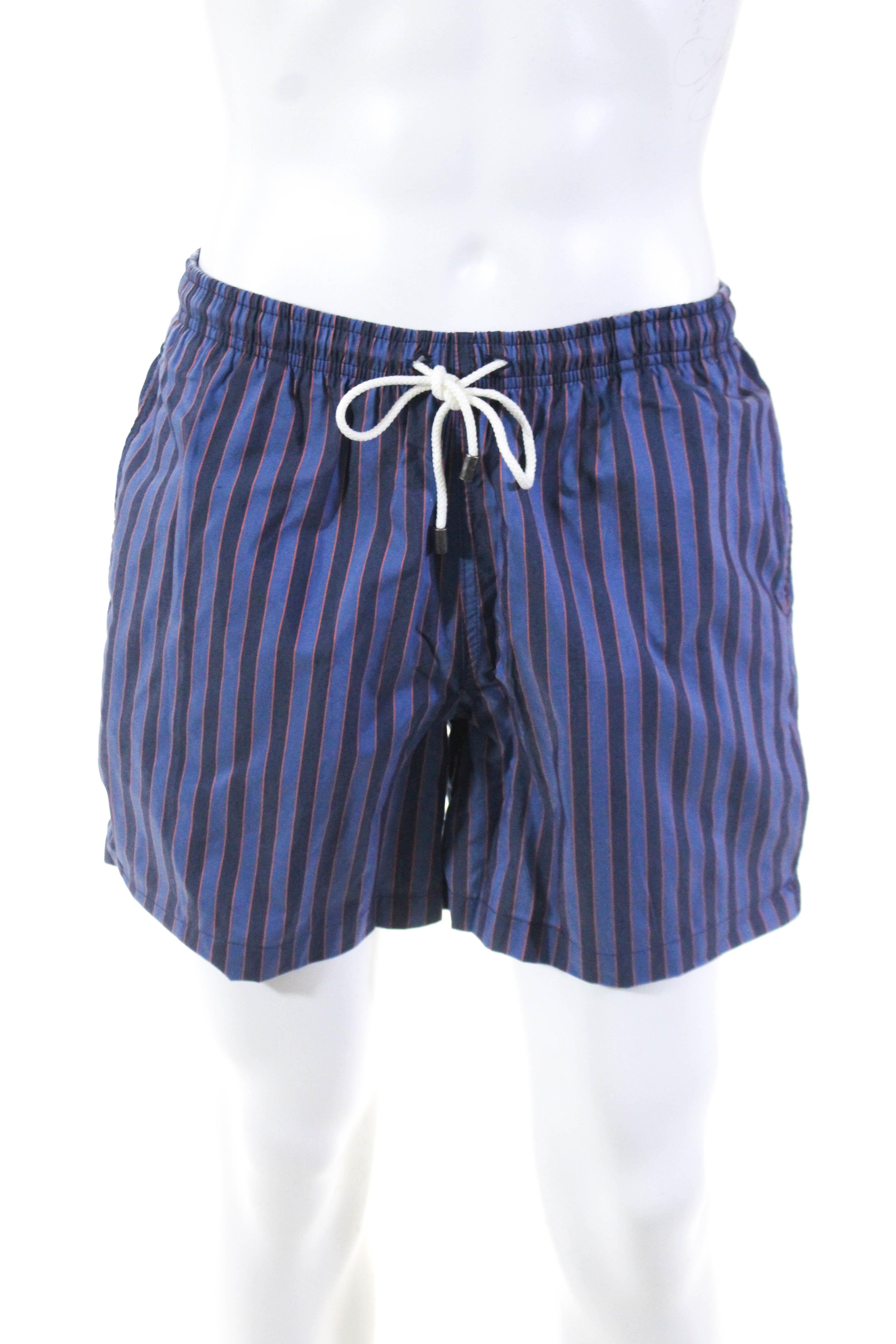 c2746131a0 Solid & Striped Mens Classic Amalfi Stripe Swim Trunks Blue Size ...