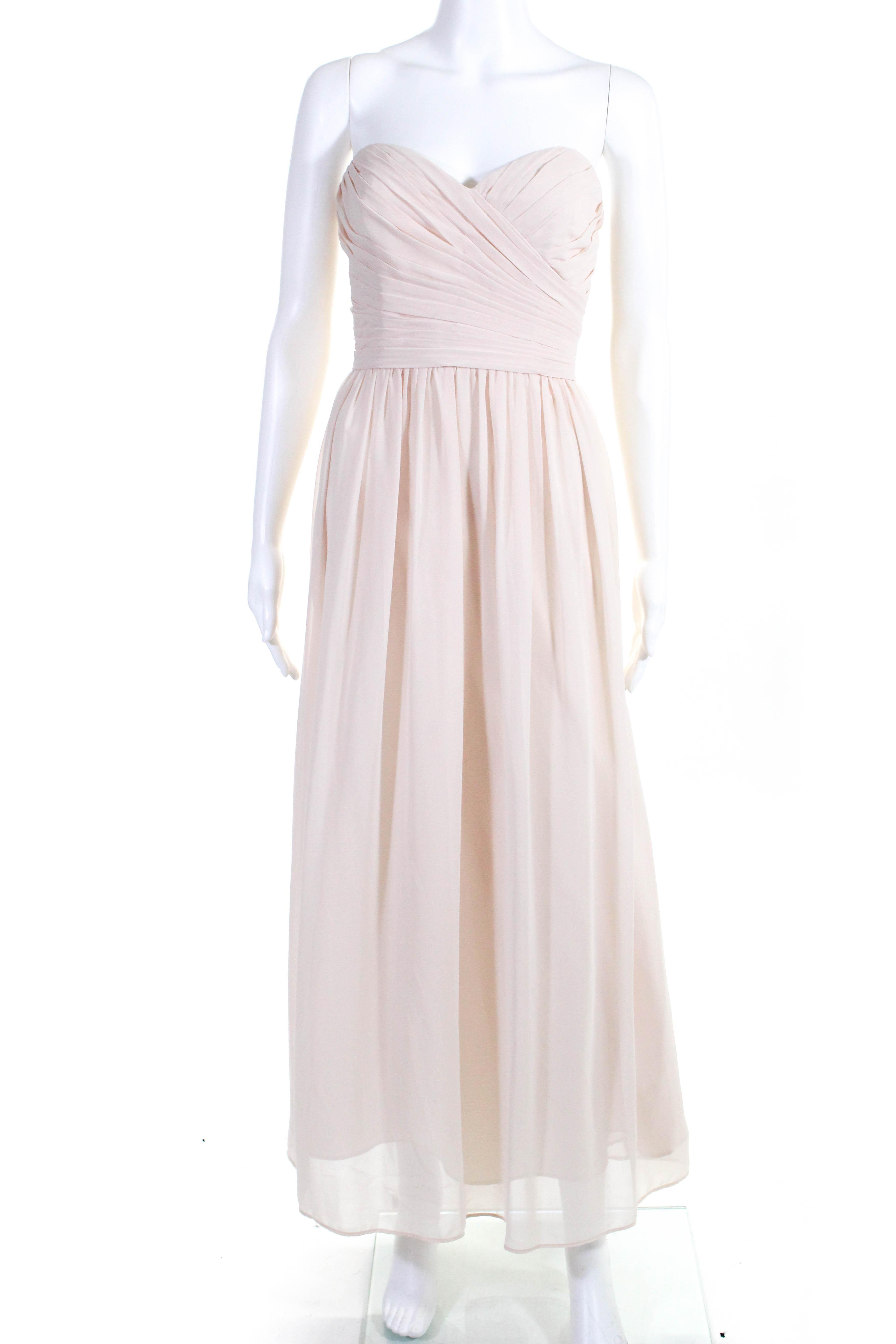 Monique Lhuillier damen Strapless Madeline Gown Blaush Rosa Größe 8 11068186
