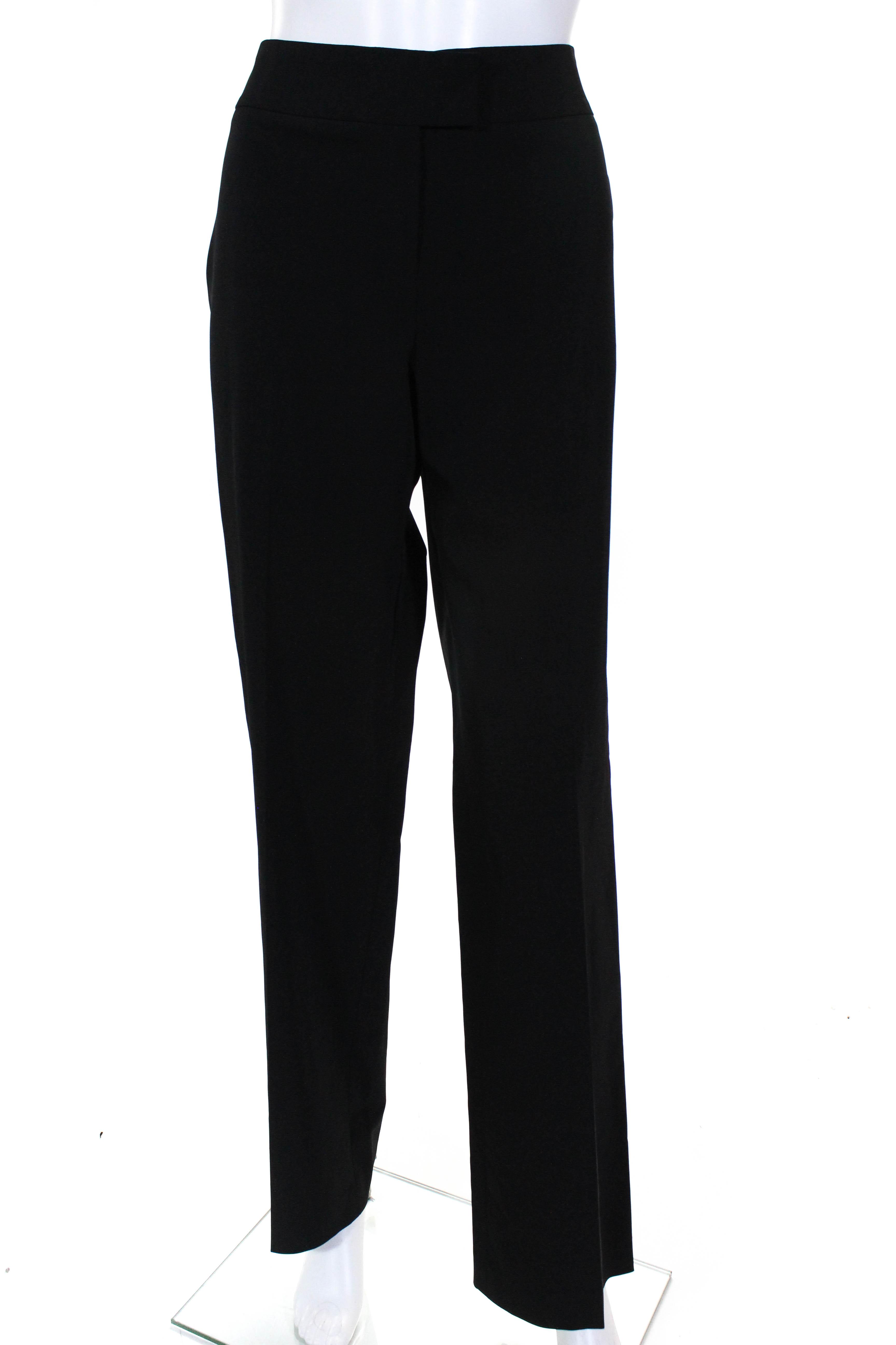 66b0df7396d6 Escada Womens Wide Leg Mid Rise Dress Pant Trousers Black Size 38 European