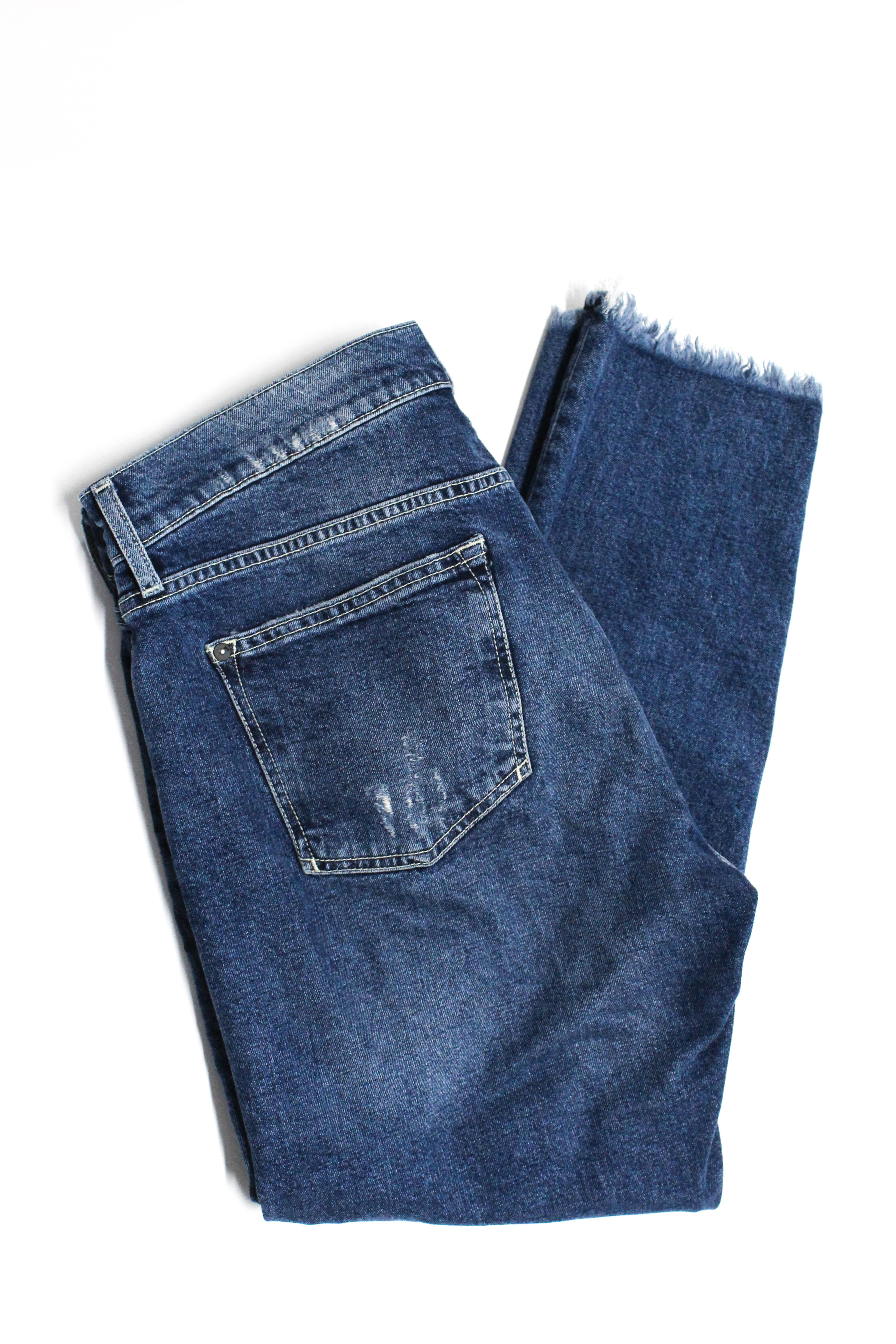 5864ad75d58 Pilcro and the Letterpress Anthropologie Womens Fringe Jeans Blue Cotton  Size 30