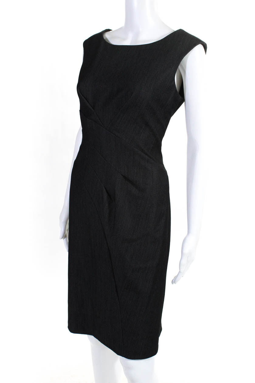 7bc7d193 Calvin Klein Womens Sleeveless Boat Neck A Line Dress Gray Size 6 | eBay