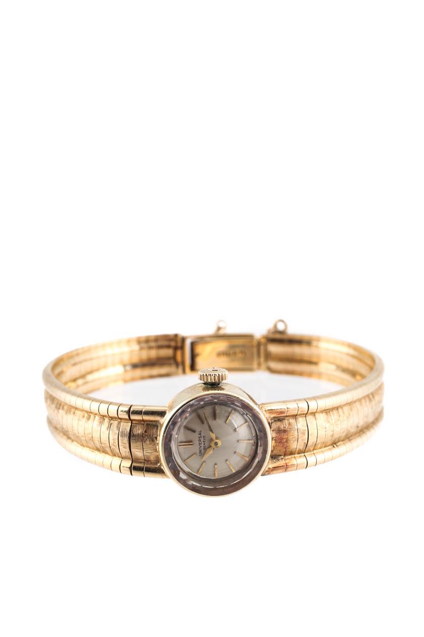 38e27a37a89 Universal Geneve Womens Vintage 14k Yellow Gold Bracelet Watch