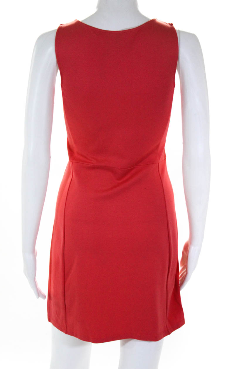 d3ca05fe Details about Theory Women's Sleeveless Stretch Sheath Dress Knee Length  Coral Size Small