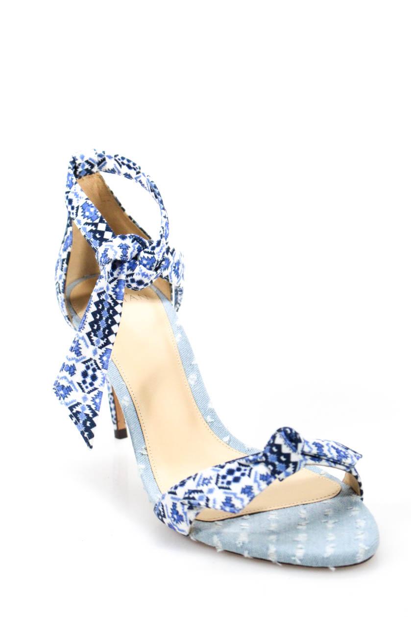 8f3f4111a9b Alexandre Birman Womens Open Toes Ankle Strap Clarita Pumps Blue Size 38 8