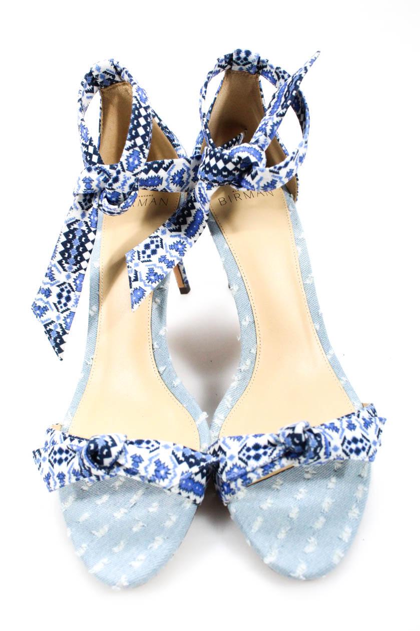 f375f9c152b Alexandre Birman Womens Open Toes Ankle Strap Clarita Pumps Blue ...