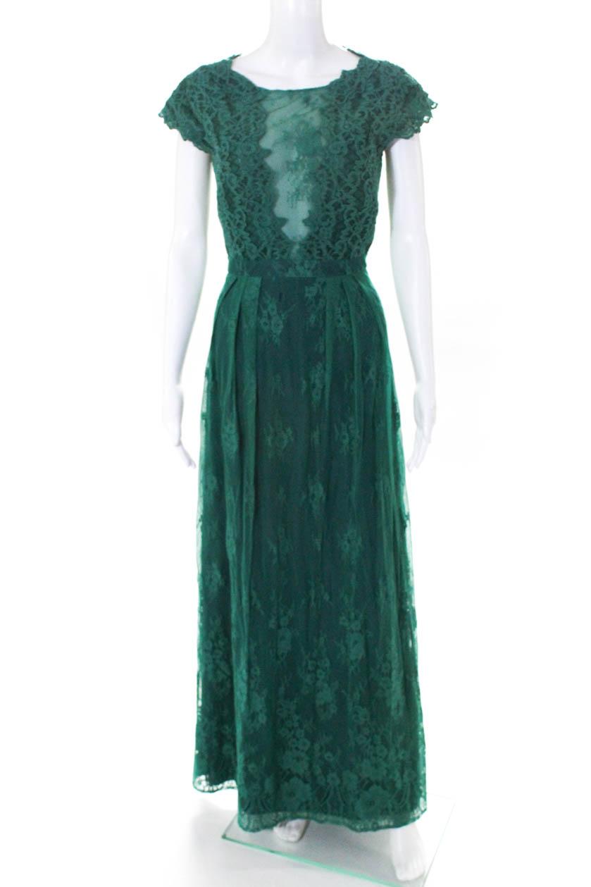 ML Monique Lhuillier damen Grün Floral Lace Gown Größe 6 10578264