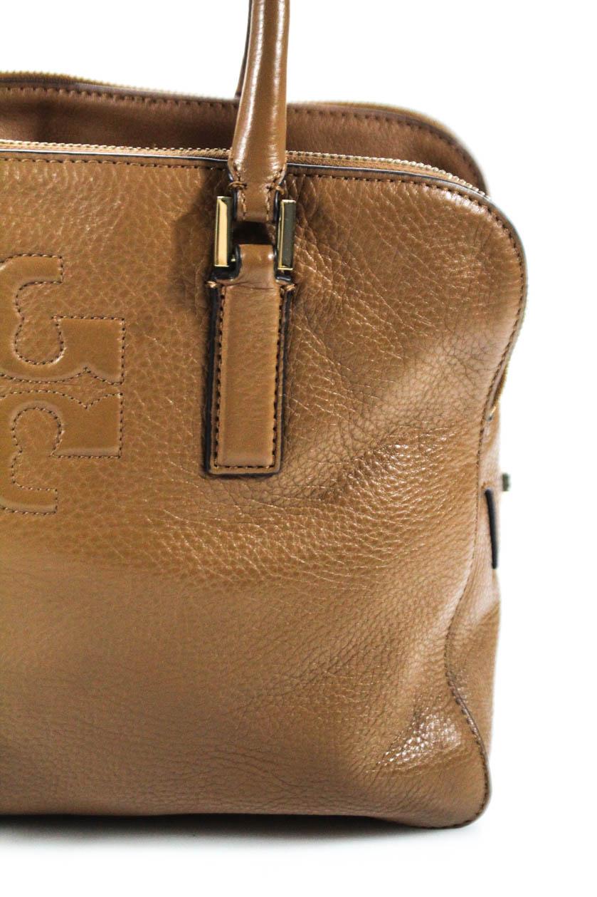 89f075ee350 Tory Burch Womens Leather Tassel Triple Zipper Satchel Handbag Brown ...
