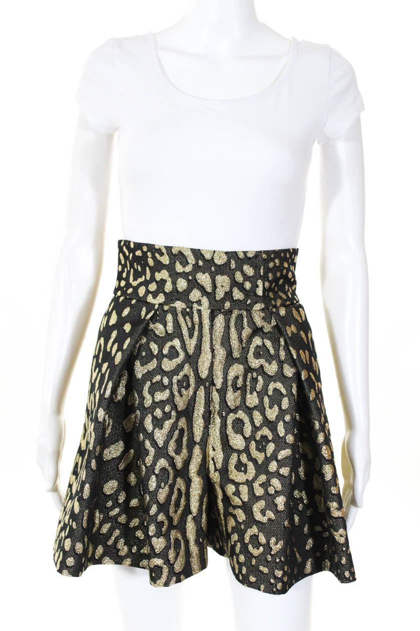 Shorts Womens Size Jacquard High Lurex And Dolce Waist Gabbana Gold cqR54jLSA3