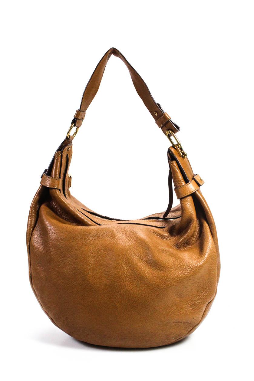 5b05c10ea7 Details about Salvatore Ferragamo Womens Shoulder Hobo Handbag Brown Leather  Size Large