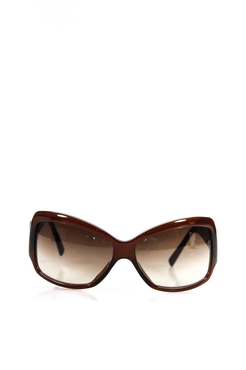 2876f2ebc3e Details about Salvatore Ferragamo Womens 2096 520 13 Square Frame Sunglasses  Brown Blue Print