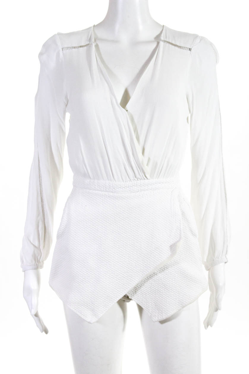 2afbc721af62 Lovers + Friends Womens Radiance V Neck Romper White Size Small 11056983