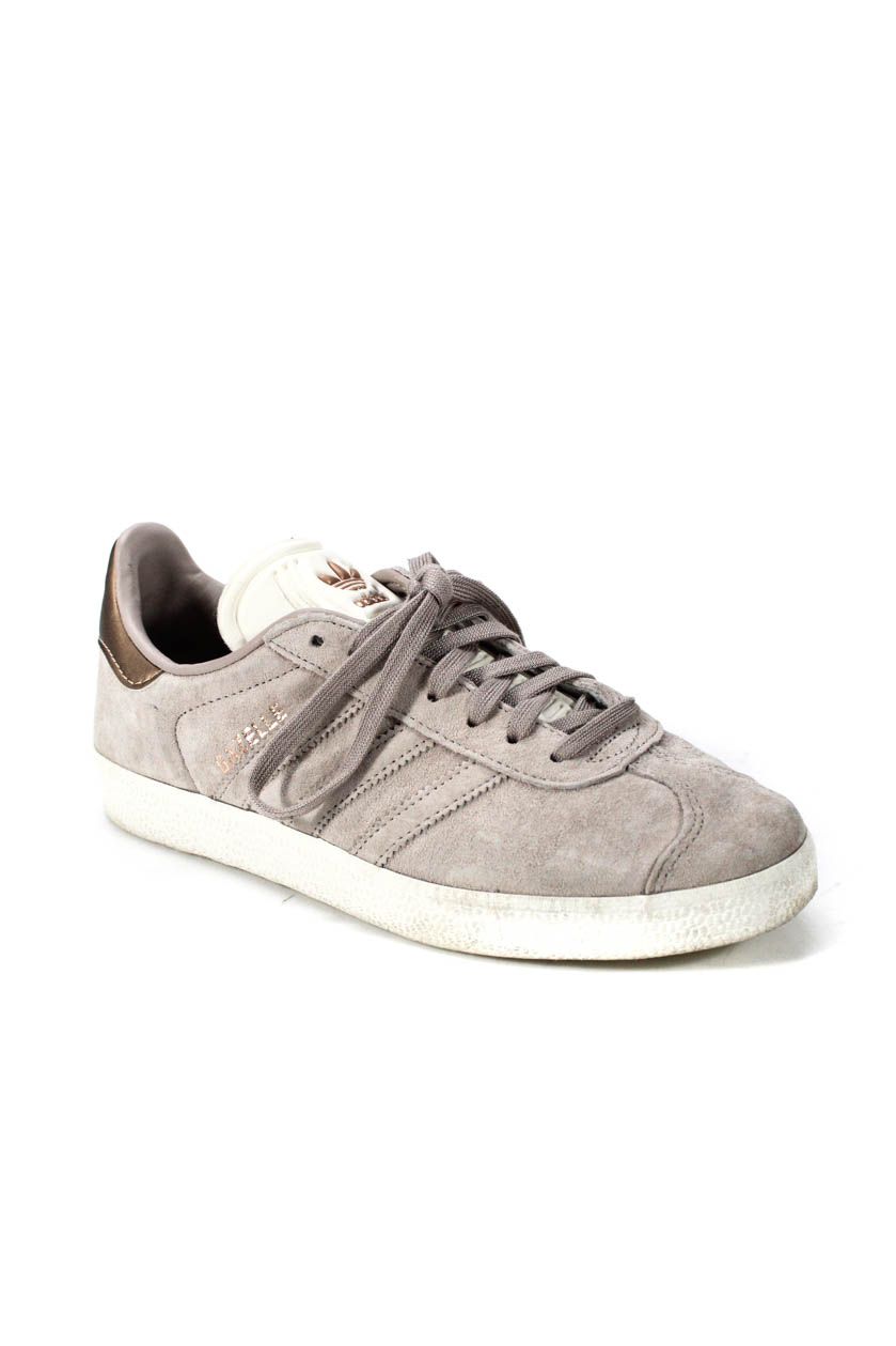 new styles 882dd 1ea1c Adidas Womens Gazelle Suede Lace up Low Top Sneakers Mauve White Size 35.5  5.5