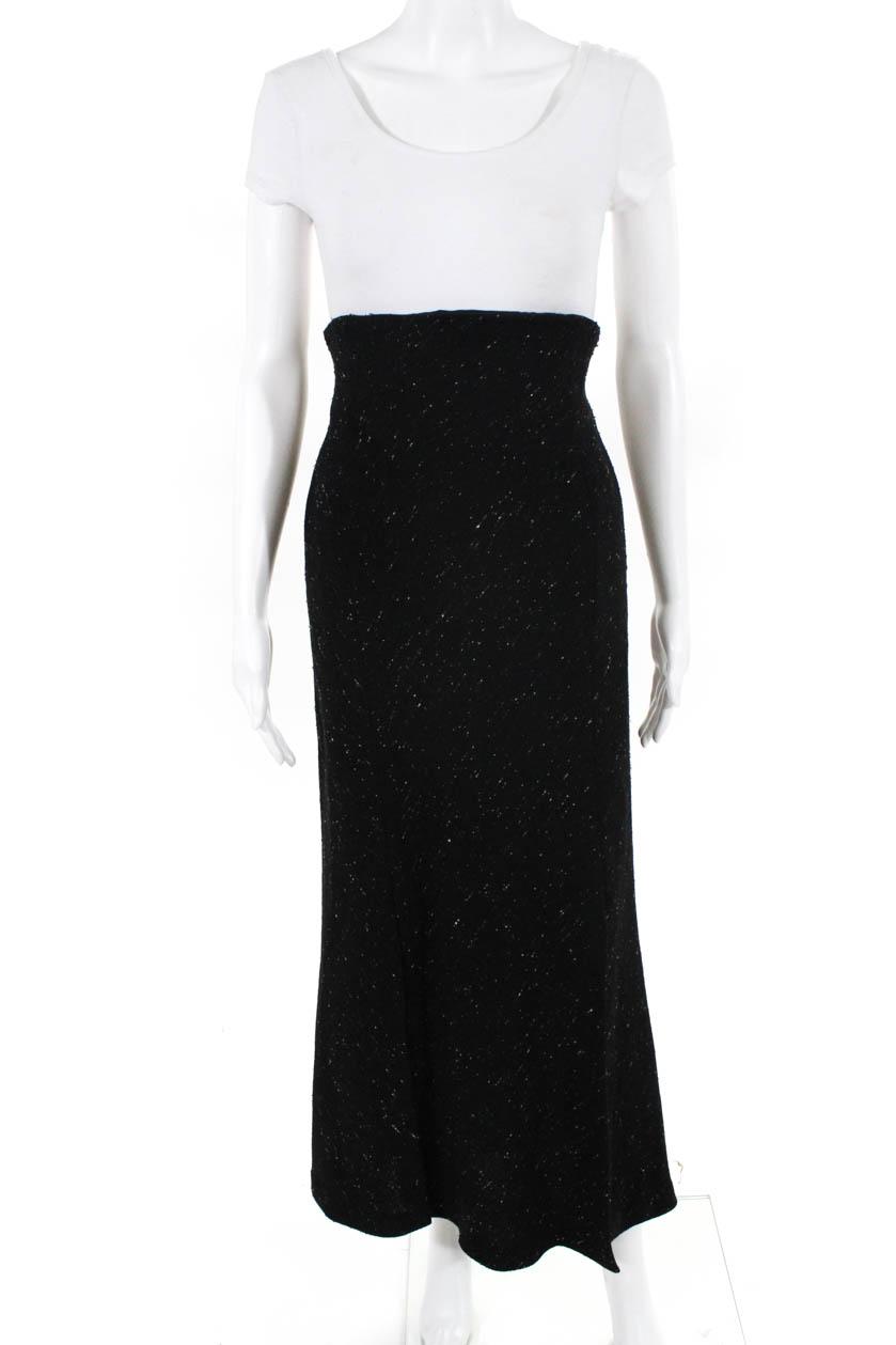d27cc6501 Details about Donna Karan New York Womens High Waisted Maxi Skirt Black Size  6