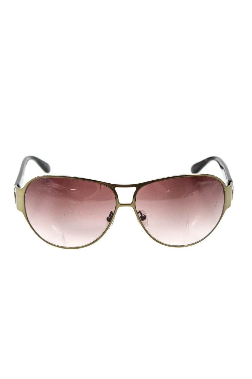 04f382e9b6 Details about Marc By Marc Jacobs Womens Aviator Sunglasses Gold Tone  Tortoise Shell Print
