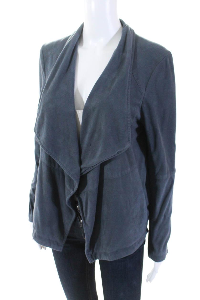 9b90cea7be3 BB Dakota Womens Grey Faux Suede Jacket Size Large 10694093