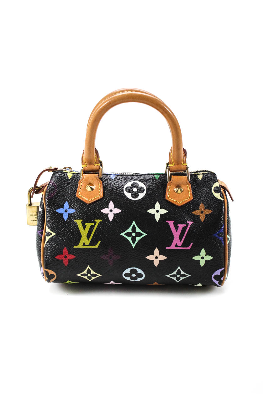 9255f2d305d1 LOUIS VUITTON MULTICOLOR Black Nano Mini Sac HL Speedy Handbag ...