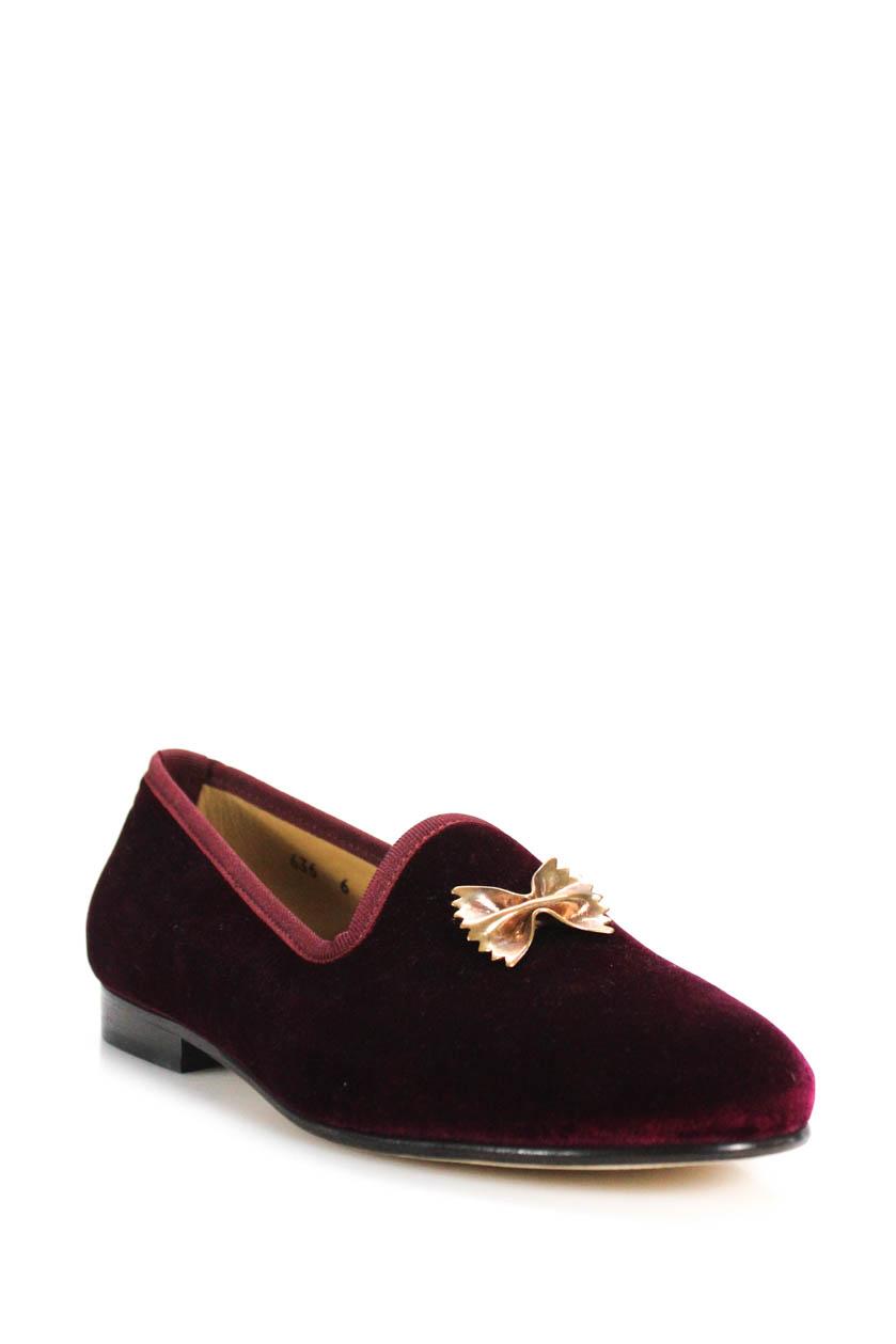 6f730e6188f Details about Del Toro Mens Prince U Slipper Dress Loafers Bordeaux Purple  Size 6
