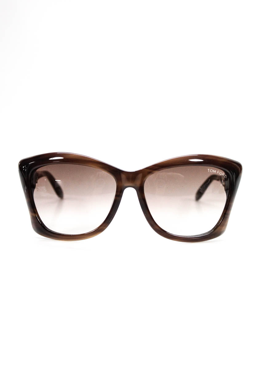 f34ca6d1bbc4 Details about Tom Ford Lana TF280 50F Women s Cat Eye Sunglasses Brown Gold  Tone Detail