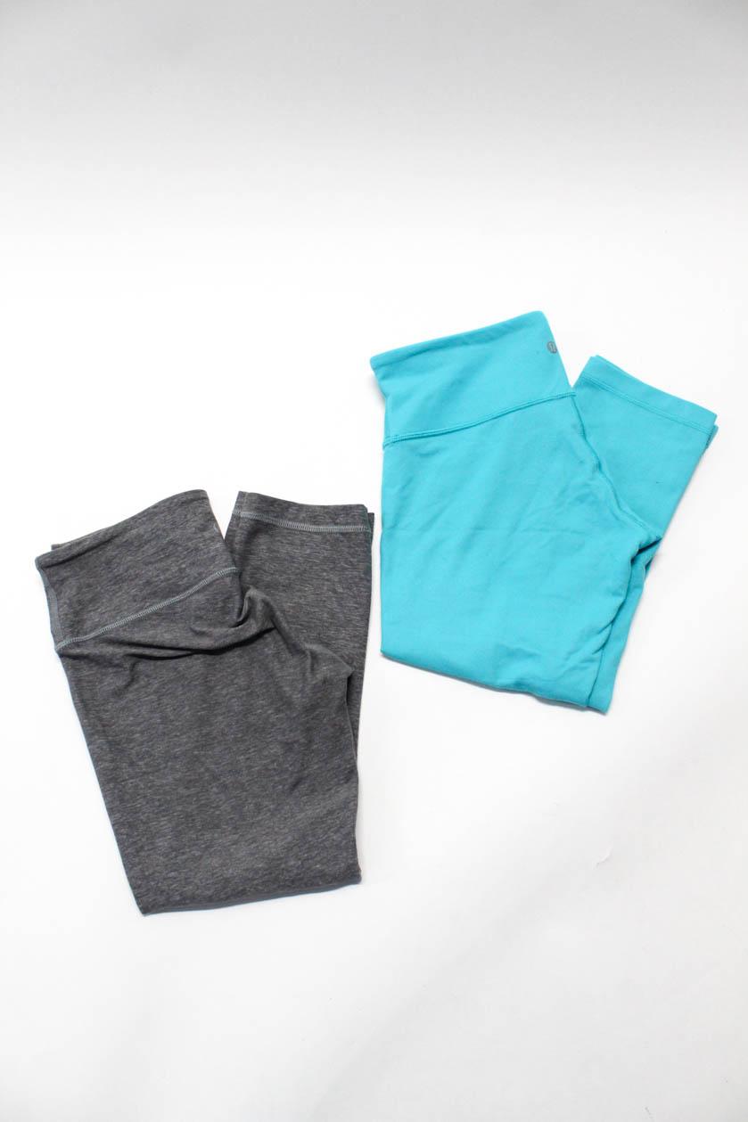 94da15394f Lululemon Womens Athletic Workout Cropped Pants Blue Gray Size 6 Lot ...