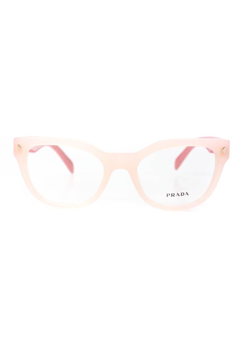dfc00ef6418e Details about Prada Womens VPR 23S Cat Eye Plastic Eyeglass Frames Pink.  Popular Item