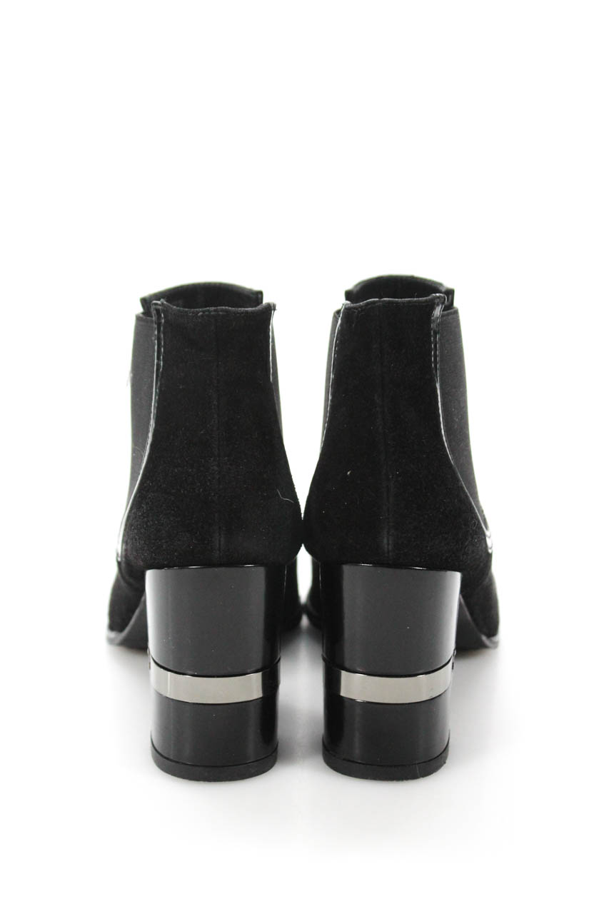 f53496a8d6e Stuart Weitzman Womens Suede Pointed Toe Ankle Booties Black Size 8 ...
