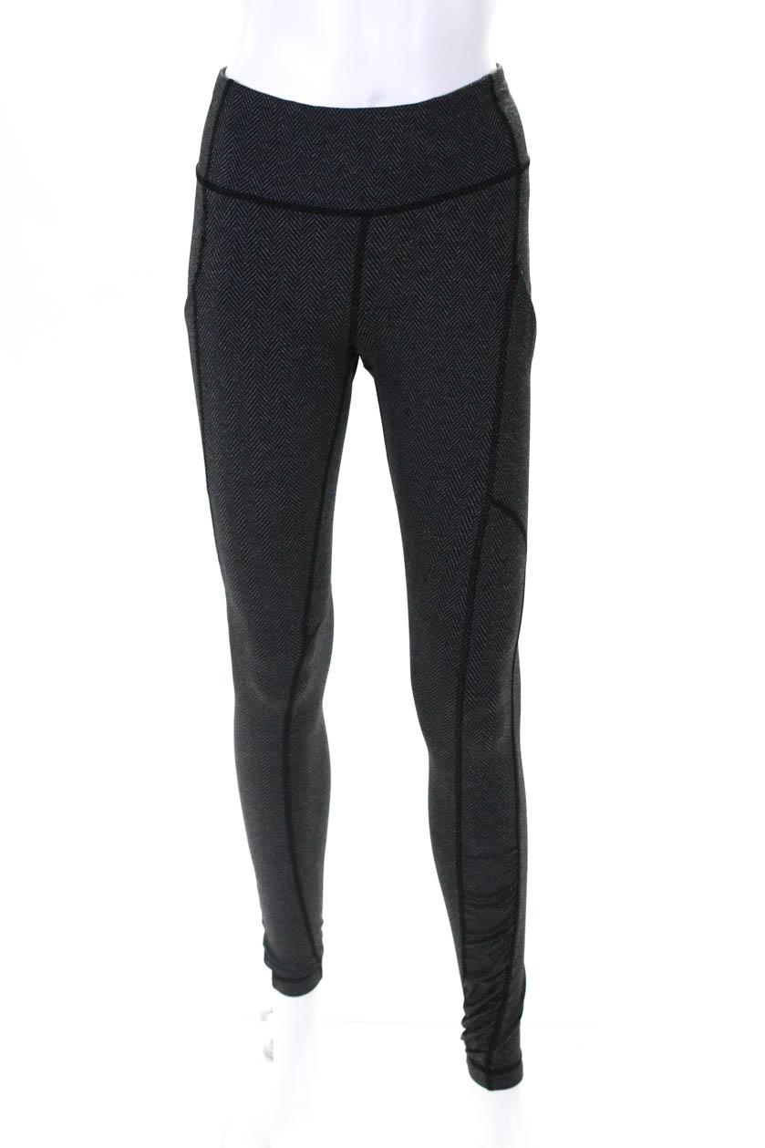 478808cadd Lululemon Women's Stretch Legging Pants Gray Black Size 4 | eBay