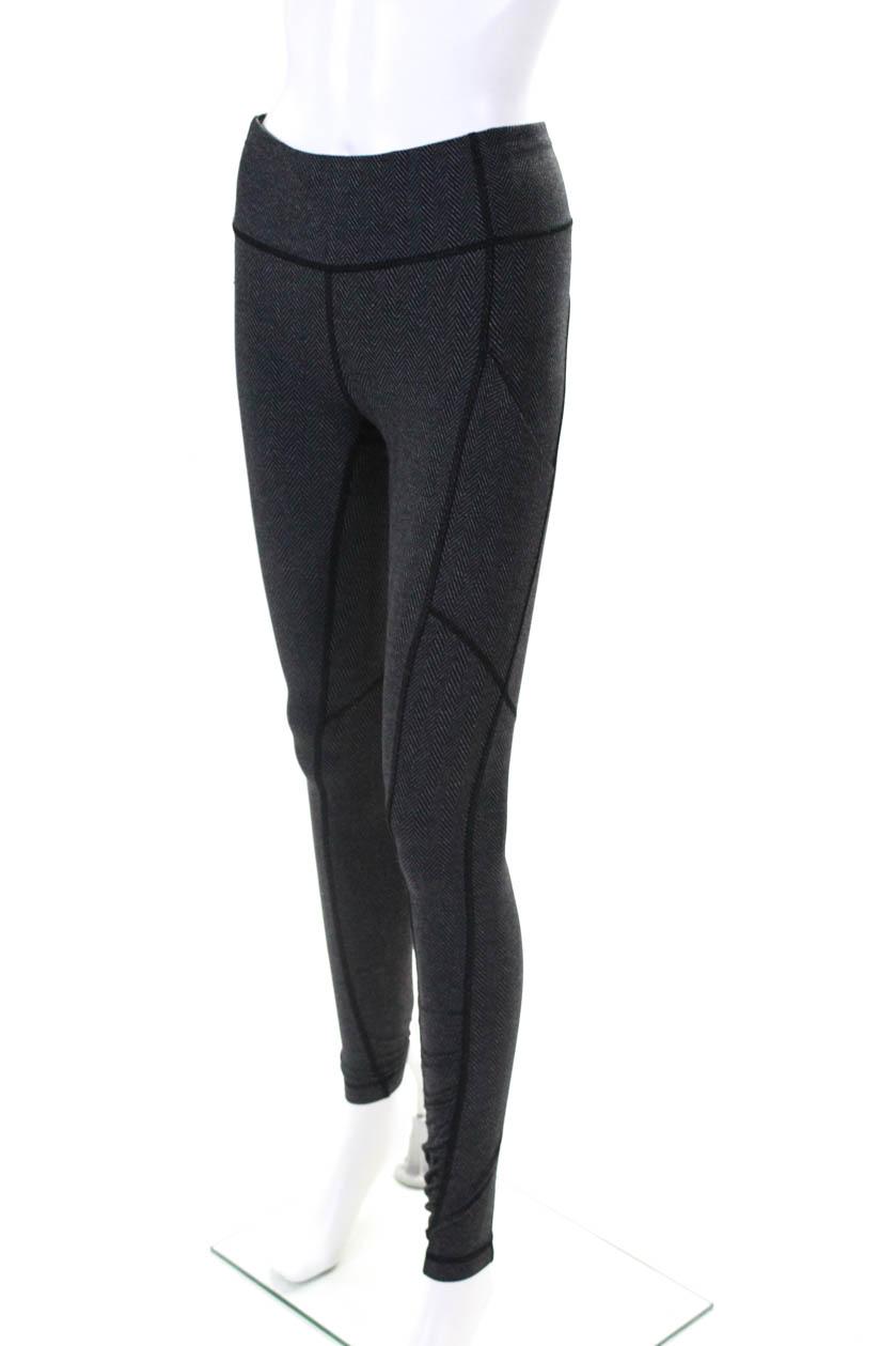 f2179cca6c921 Lululemon Women's Stretch Legging Pants Gray Black Size 4 | eBay