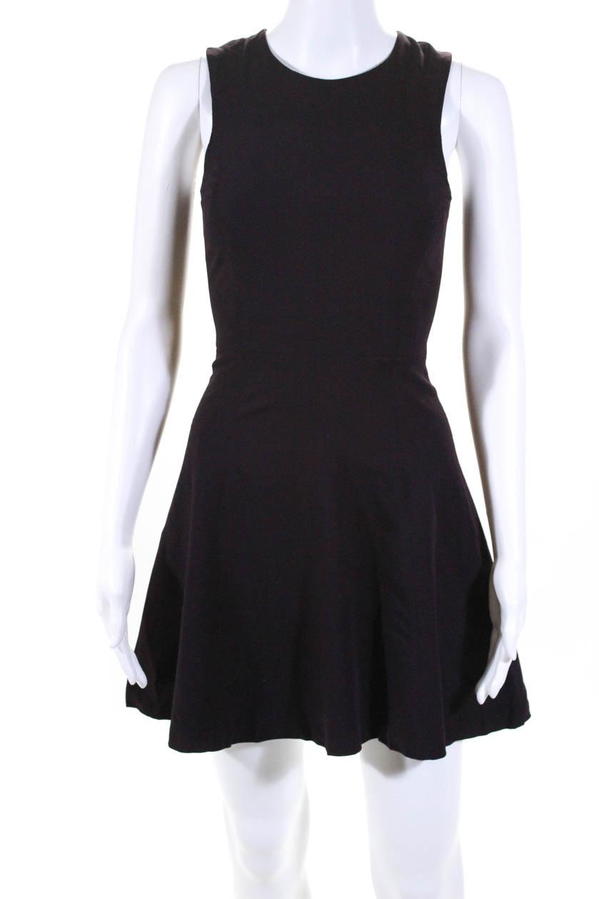 b9cc2e6131 Theory Womens Zipper Back Scoop Neck Mini A Line Dress Burgundy Size ...