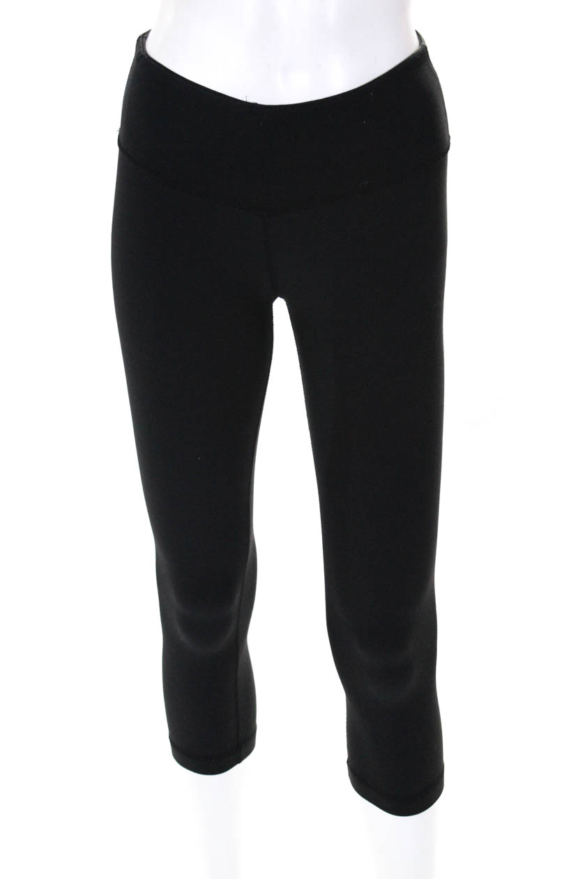 9b26a246a2 Lululemon Womens Cropped Pullover Athletic Leggings Black Size 2 | eBay