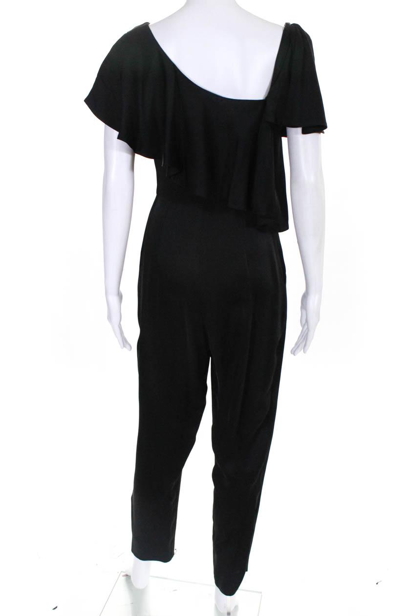 JILL Jill Stuart Womens Satin Wide Leg Drape Jumpsuit BHFO 0626