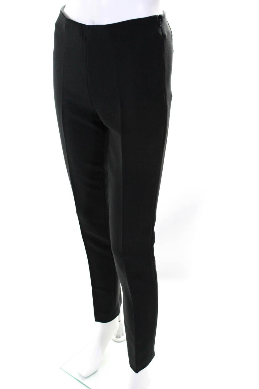 Domenico Vacca Womens Pleated Straight Leg Unfinished Dress Pants Gray Size IT40