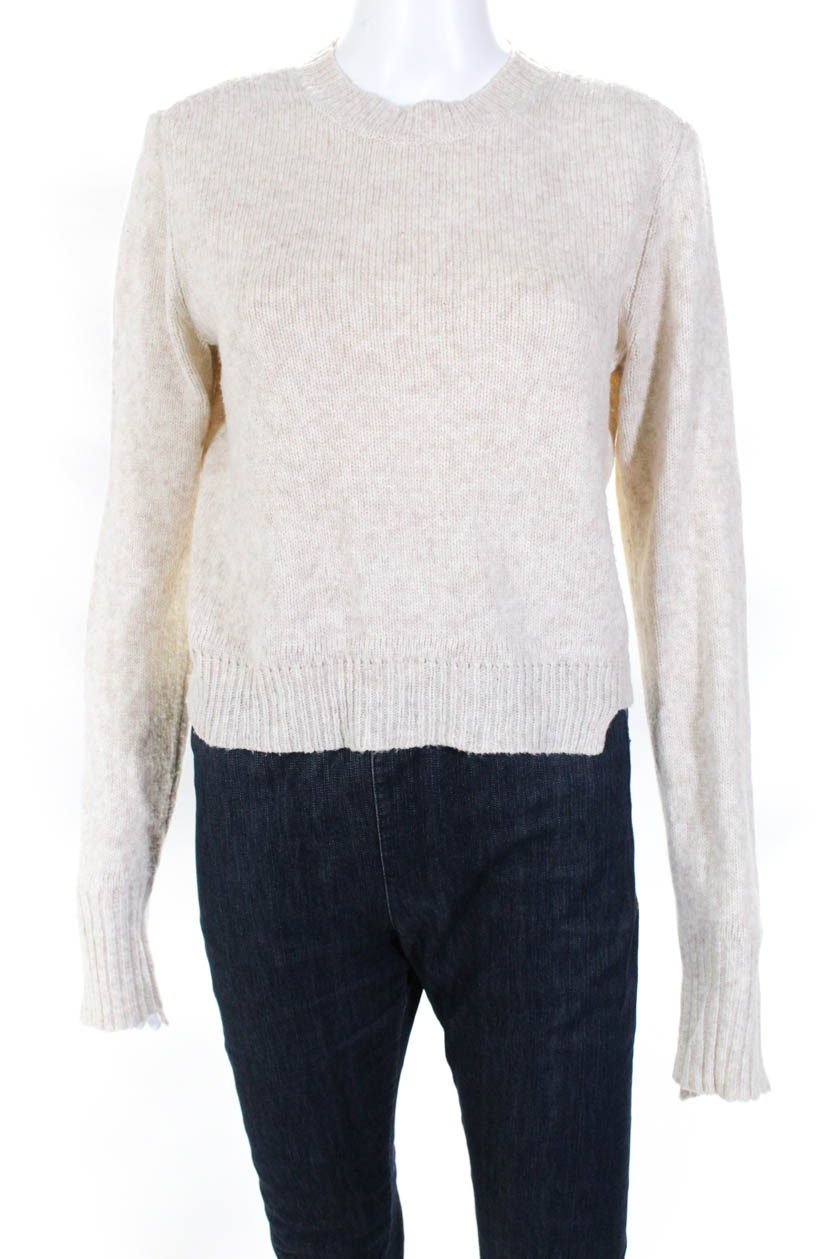 Crew Clothing Beige Wool Jumper Medium