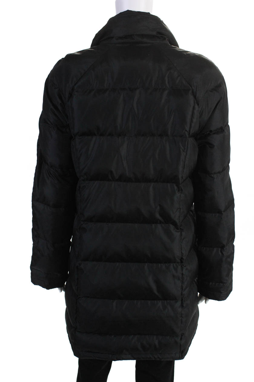 Brooks Brothers Womens Long Sleeve Zip Up Puffer Coat ...