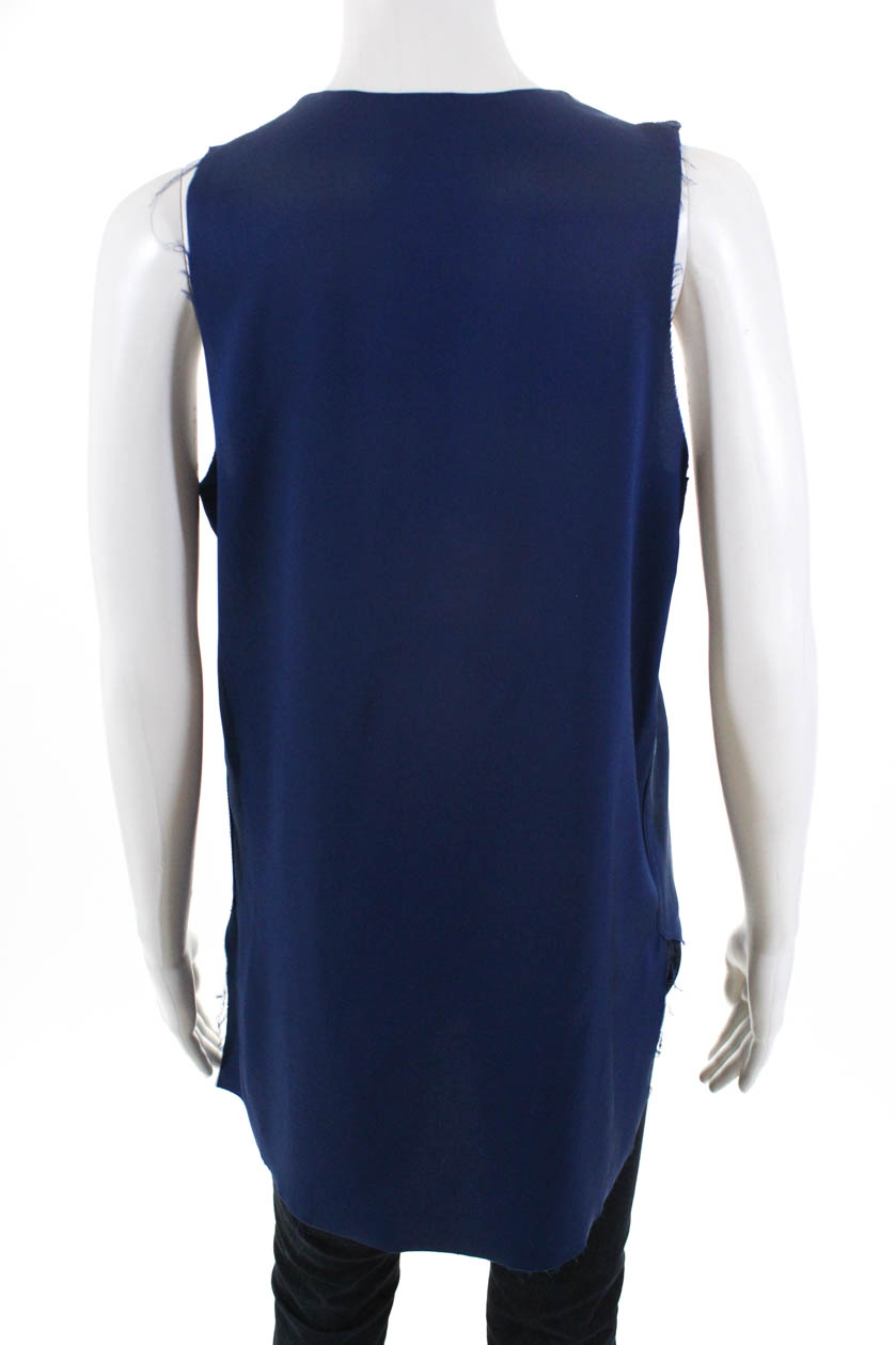 3-1-Phillip-Lim-Womens-Silk-Sleeveless-Blouse-Blue-Size-4 thumbnail 3