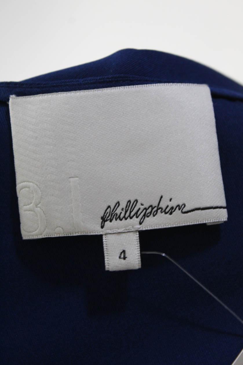 3-1-Phillip-Lim-Womens-Silk-Sleeveless-Blouse-Blue-Size-4 thumbnail 5