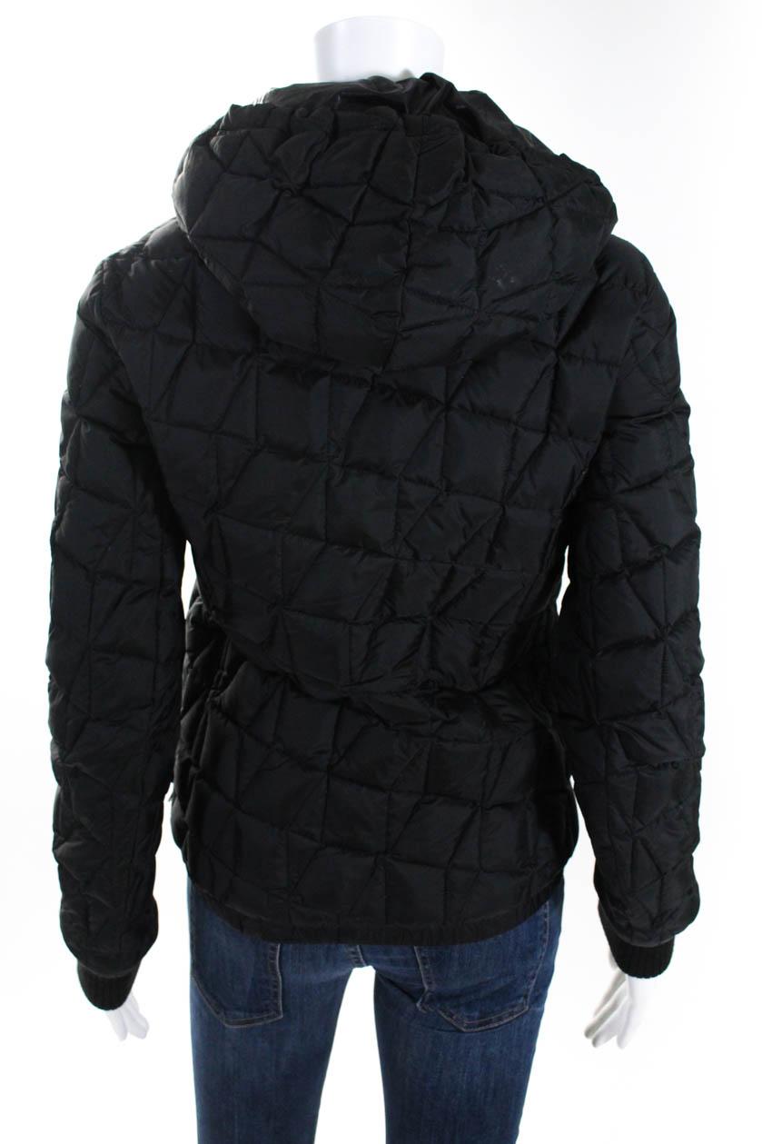 Add Women's Zip Up Hooded Puffer Jacket Black Size 4 | eBay