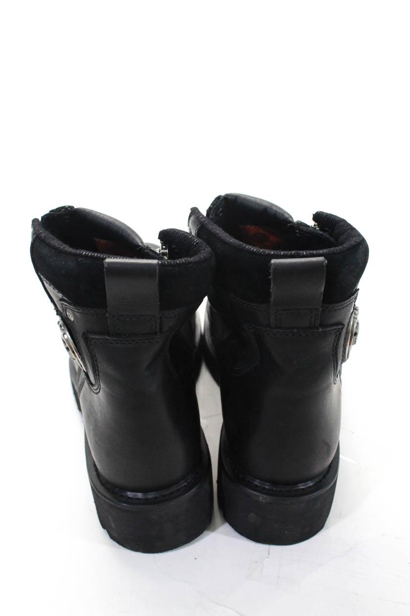 Harley Davidson Womens Leather Brake Light Zipper Ankle -4546