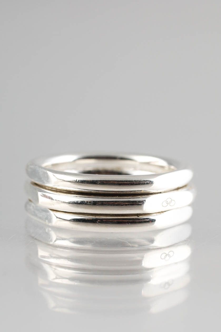 Links of London Sterling Silver 20//20 Classic M Ring Size 5.5