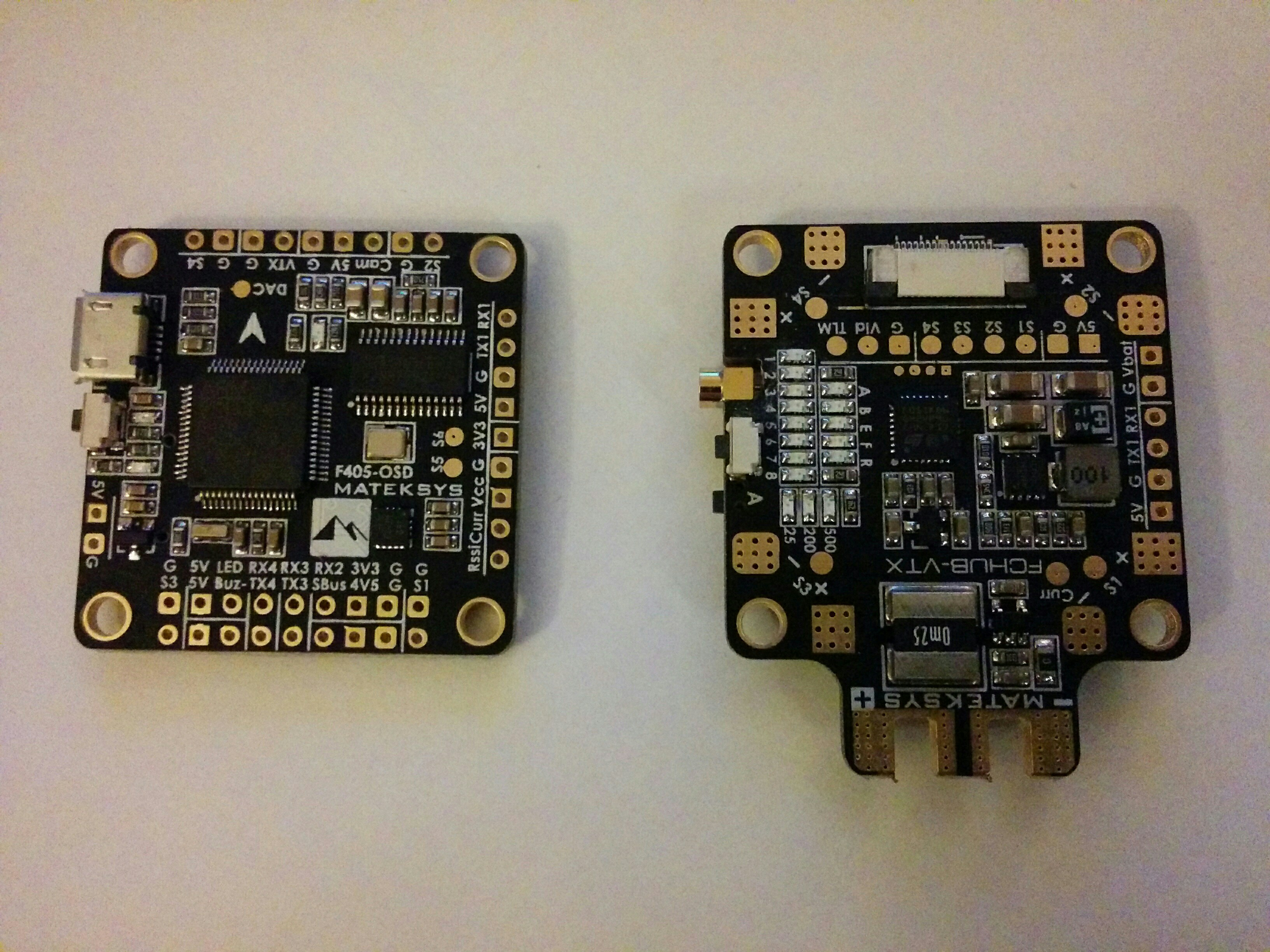 Matek have really improved the quality and design of their products  recently and this pair of boards provides an F4 processor, 32KHz capable  gyro, ...