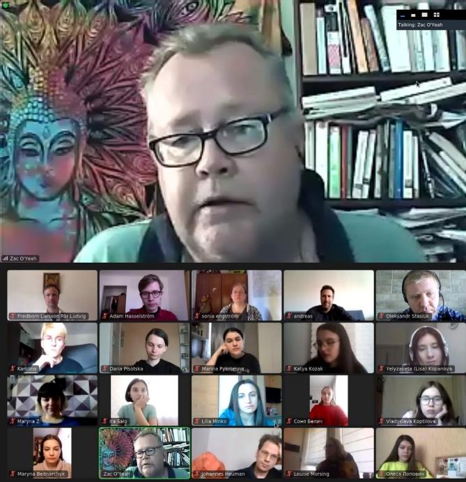 Онлайн-зустріч зі шведським письменником Саком О'Є