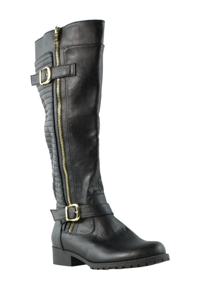 Steve Madden Womens Quincy Black Knee Boots Size 5 (209826)